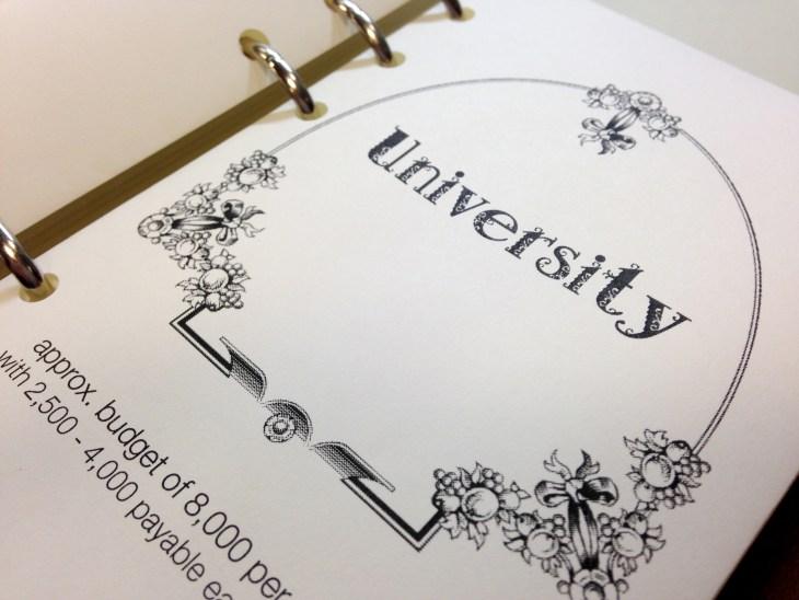 18 TBL setup envelope university