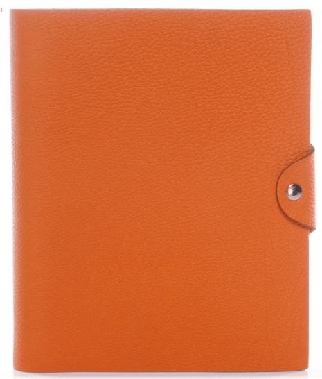 Hermés Togo Ulysse MM Notebook Cover w Notepad Orange