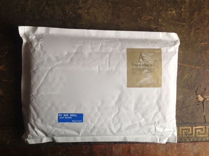 small enough to fit through the letterbox so I did not have to go to the post office to collect it - big yay!