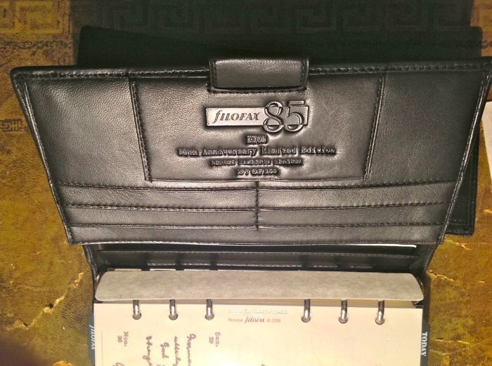 Special edition - this one is number 197 of 200. Under the slots is a nice wide pocket