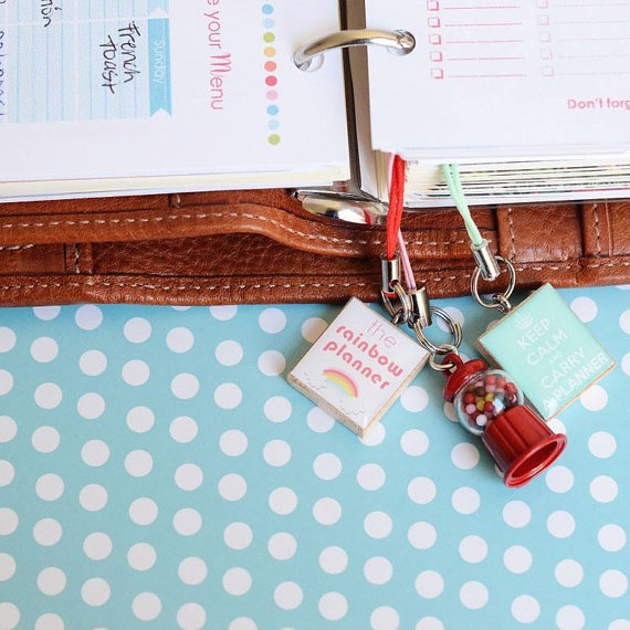 Keep calm and carry a planner charm - find it here