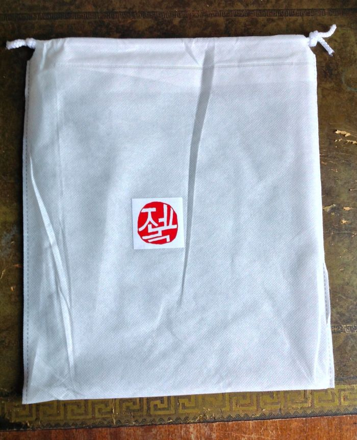 Dustbag with logo