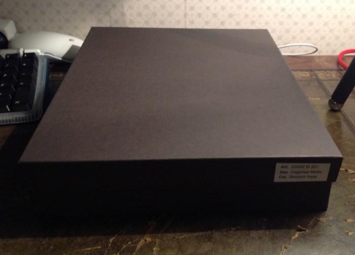 Plain black box with no name or logo