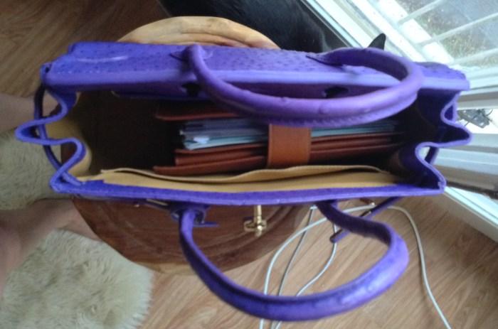 Purple Vanilla Paris bag with A5 Gillio Mia Cara