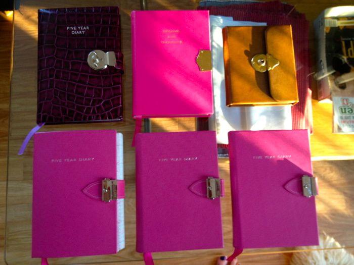 Lockable diaries