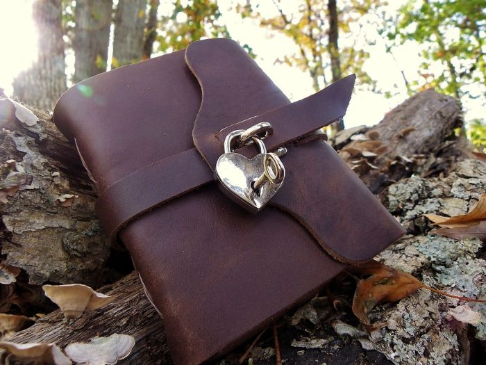 Silver heart locking journal - look at the quality of that lock.