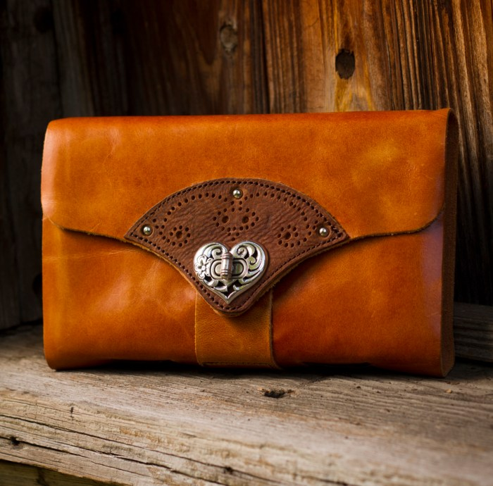 Forever heart clasp journal