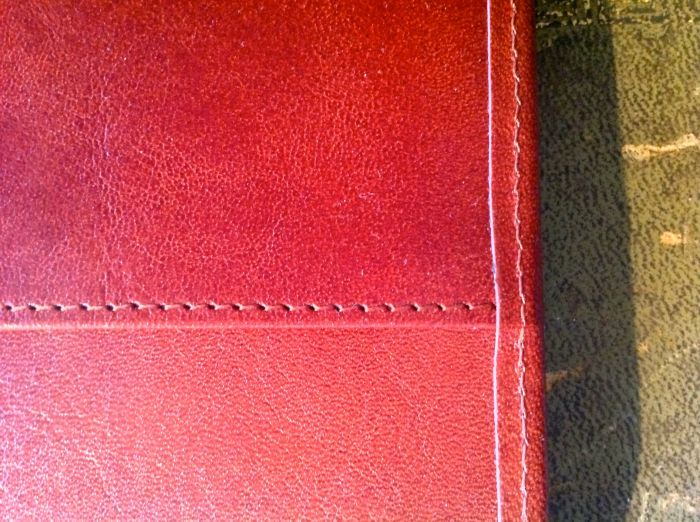 Pristine leather and impeccable stitching