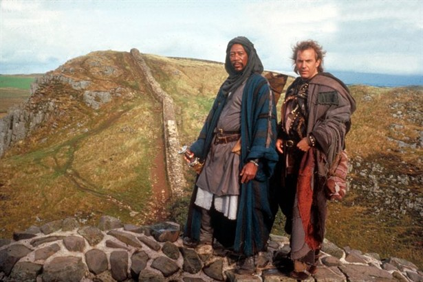 With Kevin Costner in Robin Hood: Prince of Thieves. He was really funny in this movie. Reminds me - should watch it again!