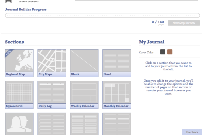 Some of the page options