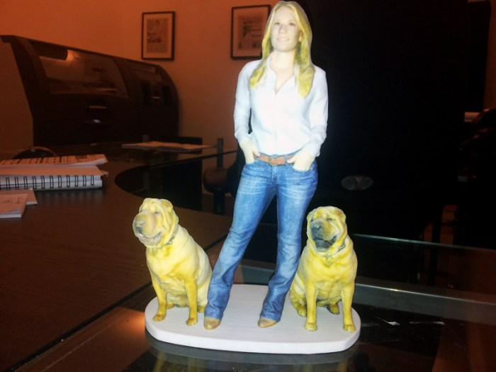 miniature-lady-with-dogs-my3dtwin