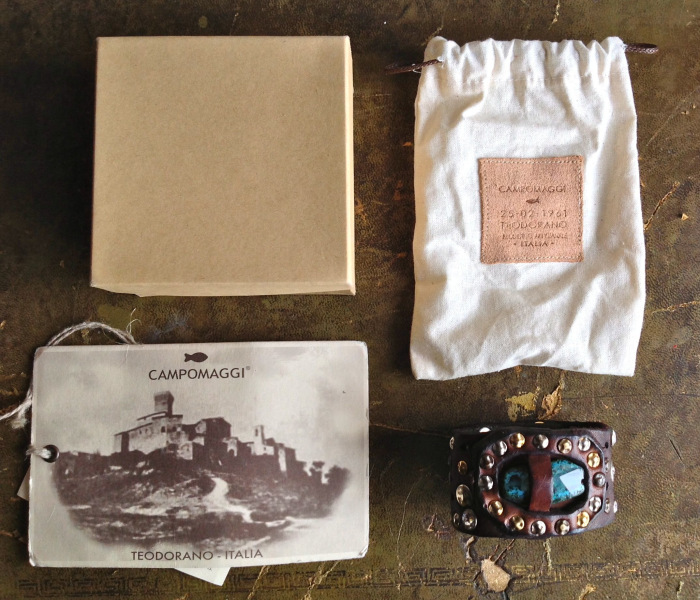 Each bracelet is in a box with a cotton pouch and a tag.