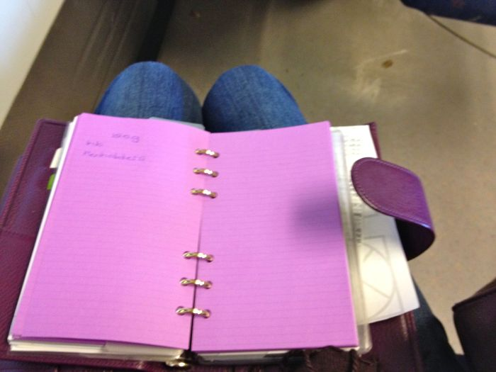 Doing blog notes on the way home