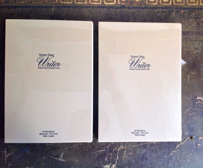 Inside the package - two notebooks in slipcases. These can be used to carry the books if you do not wish to buy a cover