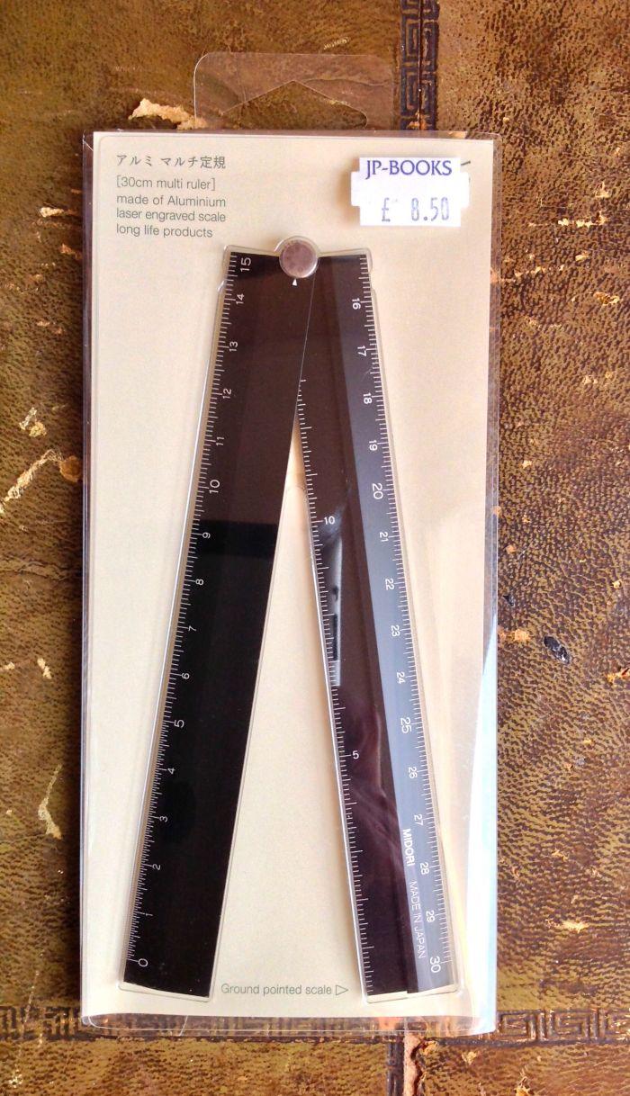 Folding Ruler. This would go into the pocket of an A5 Gillio Mia Cara or an A5 Malden