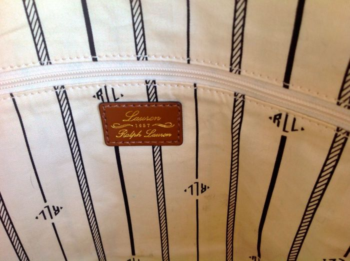 Lovely leather tag