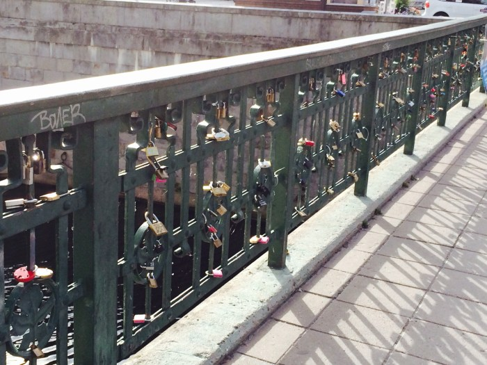 Swedish Parliament. The locks are regularly removed but they proliferate almost immediately