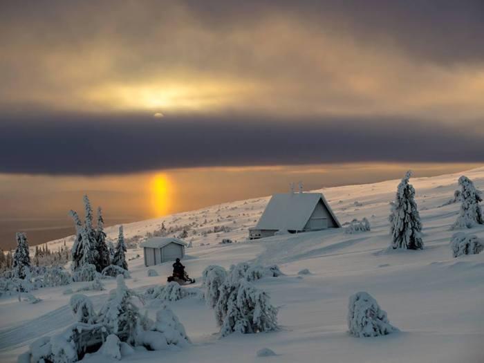 Akkelis (Norrbotten), Sweden, 19 January 2014. Temperature -30°C. Photo by Johan Fjellstrom