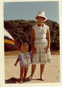 My mom made both her dress and my sun top (which was made from a towel!