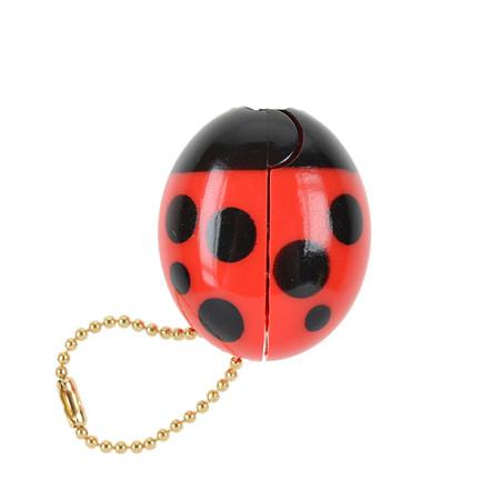 OH43601-BK~OHTO-Ladybird-Keychain-Scissors-Red-Black_P2