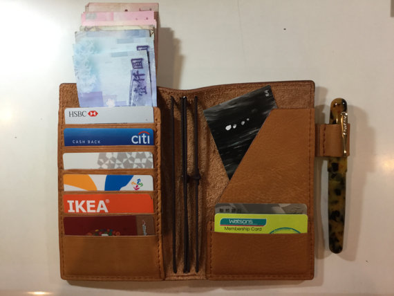Personal sized wallet/notebook