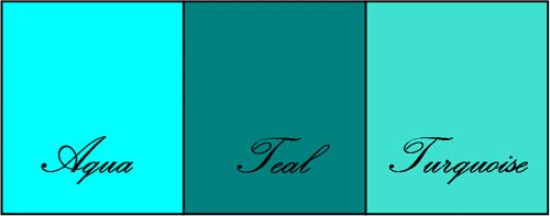 differences between turquoise teal