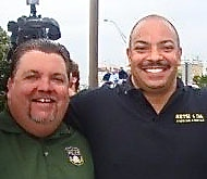 DA Williams with Philly FOP prez in better times. LBW Photo