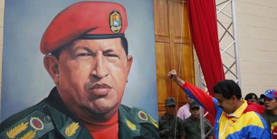 Maduro salutes Chavez at rally