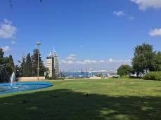 Gan HaZikaron is a park five minutes from our house. Haifa olim play soccer here on Saturdays.