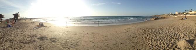 Hof HaCarmel, one of Israel's famous beaches. It's located on the western coast of Haifa.