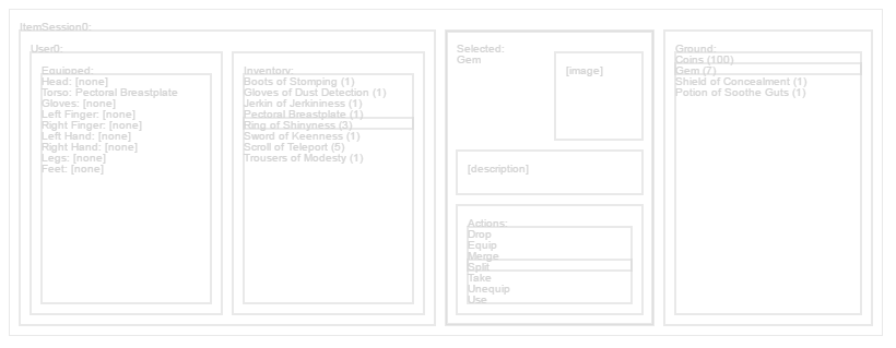 A Graphical Inventory for a Video Game in JavaScript