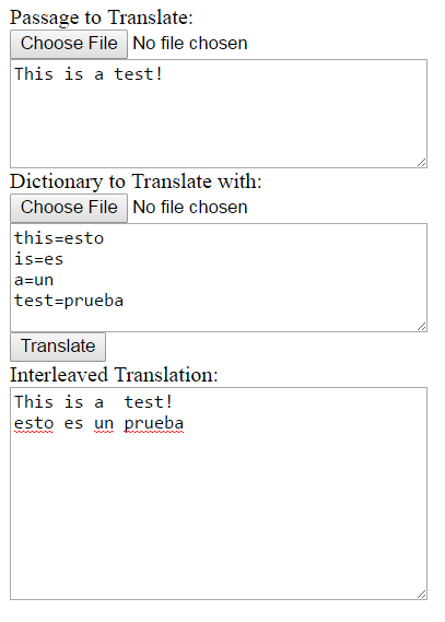 A Word-for-Word Inline Translation Utility in JavaScript