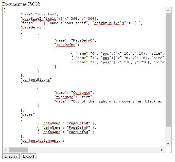 A Rudimentary Desktop Publishing Application in JavaScript