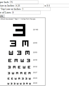 The math on chart may not be quite correct at moment if in doubt it might better to consult  licensed optometrist also visual acuity generator javascript this could rh thiscouldbebetter wordpress