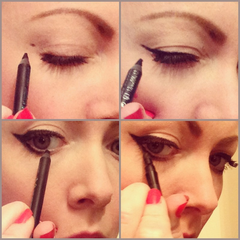 Cat Eye Makeup With Pencil Eyeliner Makeupview