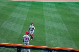 Ben Lively and Adrew Knapp at Citi Field