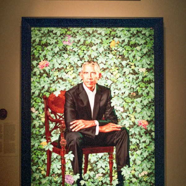 Barack Obama's Portrait by Kehinde Wiley