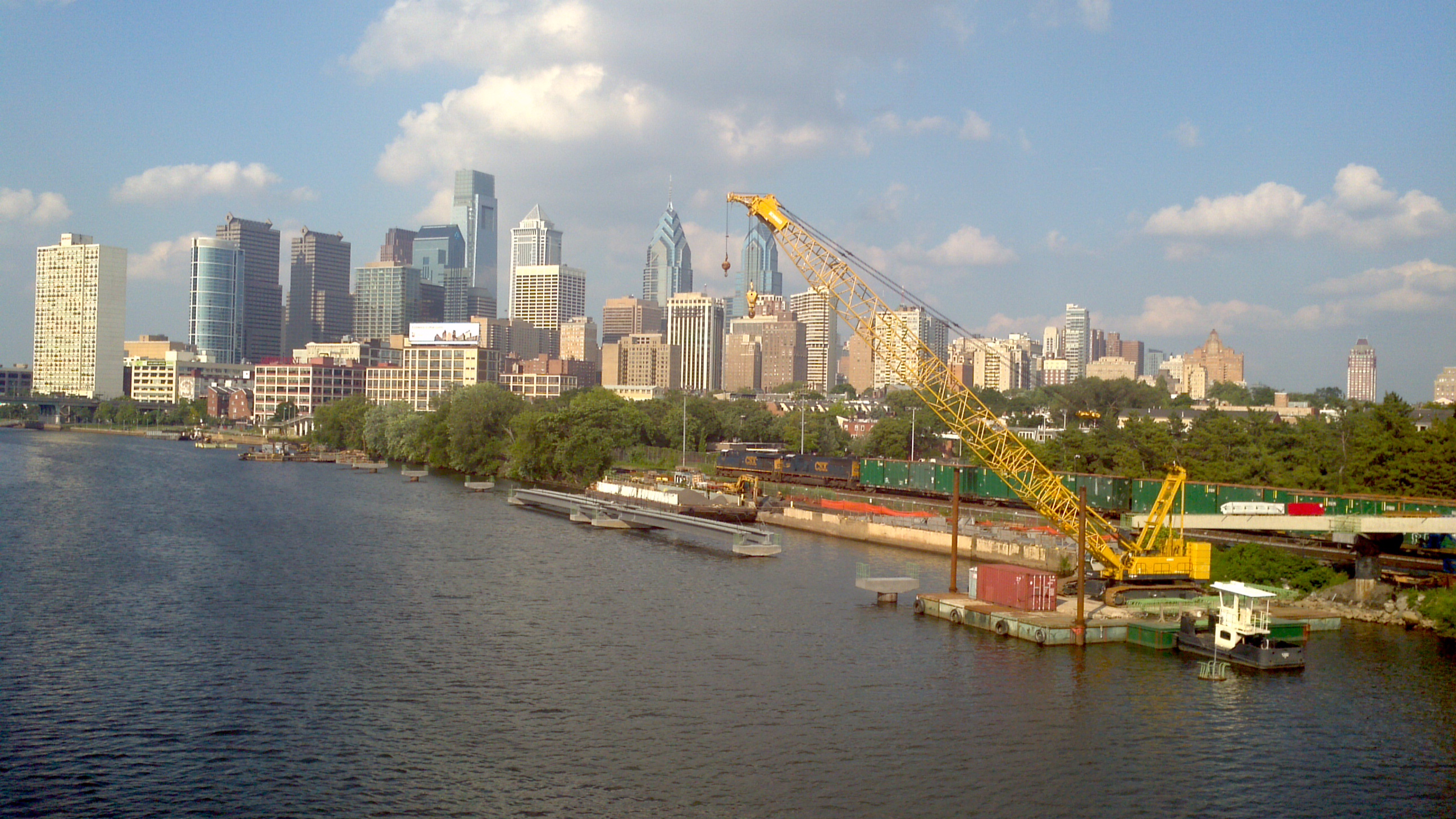 Schuylkill Banks Boardwalk Construction