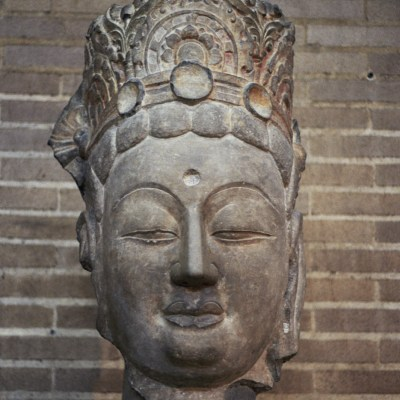 Head of a Bodhisattva at Penn Museum