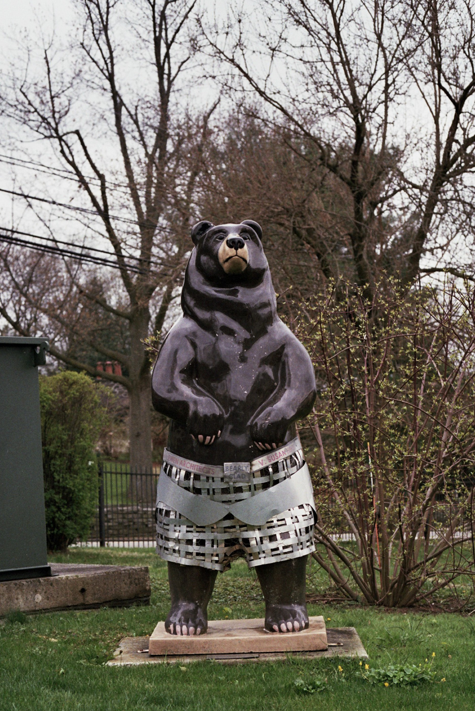 Bear Statue at Norwood-Fontbonne Academy