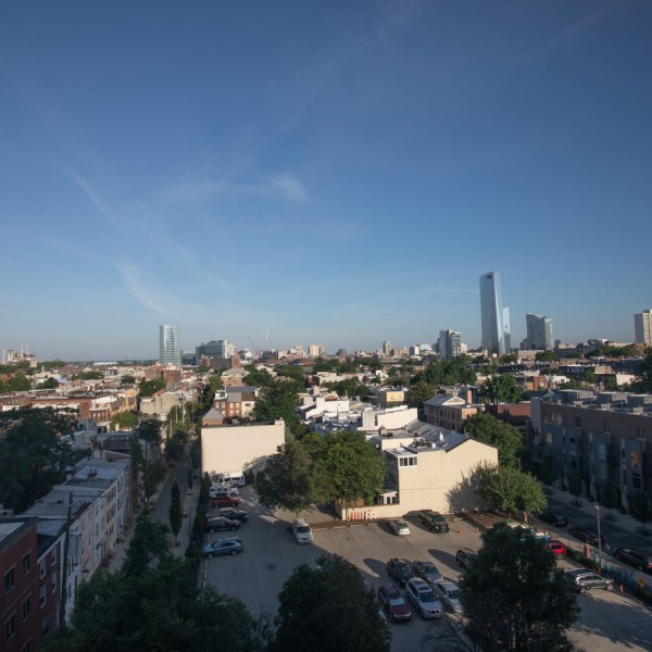 Philadelphia from Our Window with My New Camera