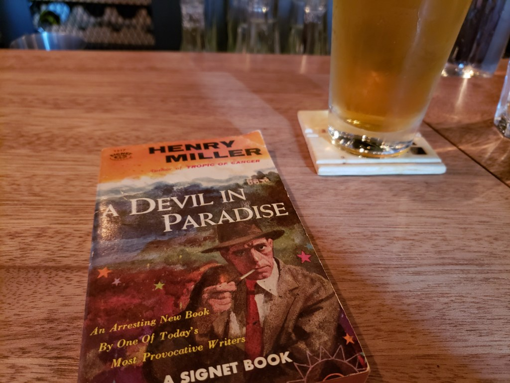 Pulp Version of Henry Miller's A Devil in Paradise and a Beer
