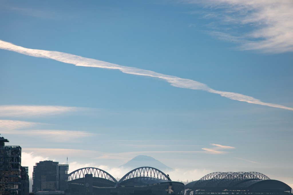 Century Link Field and Mountain