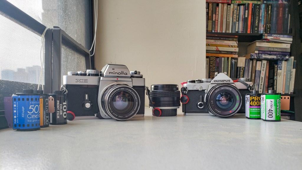 Minolta and Olympus Cameras