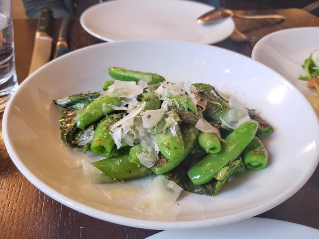 Snap Peas at Basil Seasonal Dining