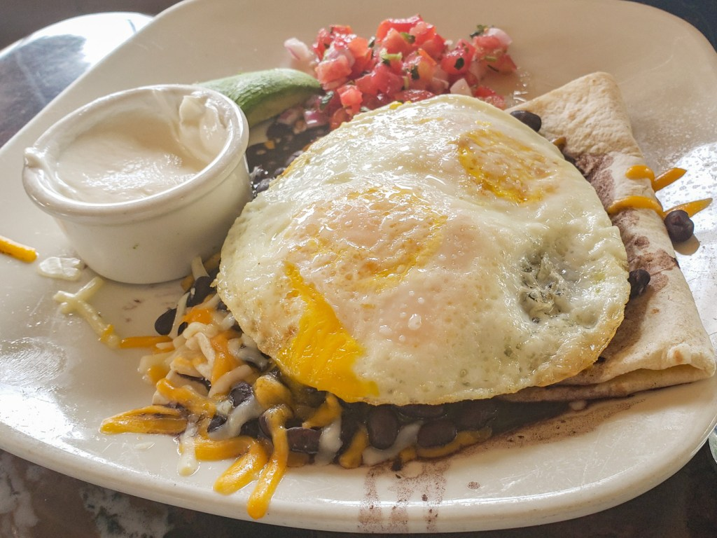 Huevos Rancheros at Village Corner Bistro