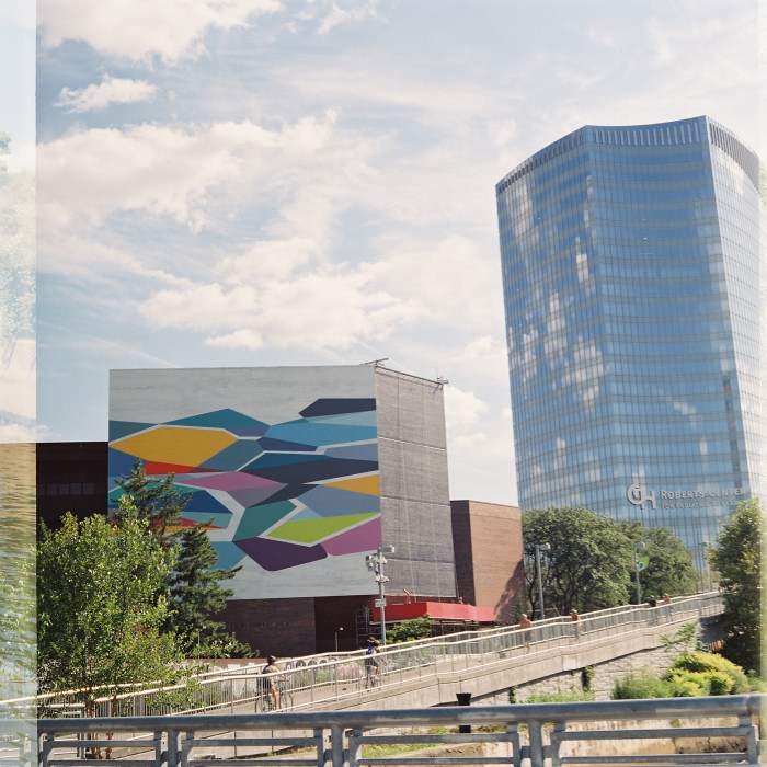 New Mural and Roberts Center