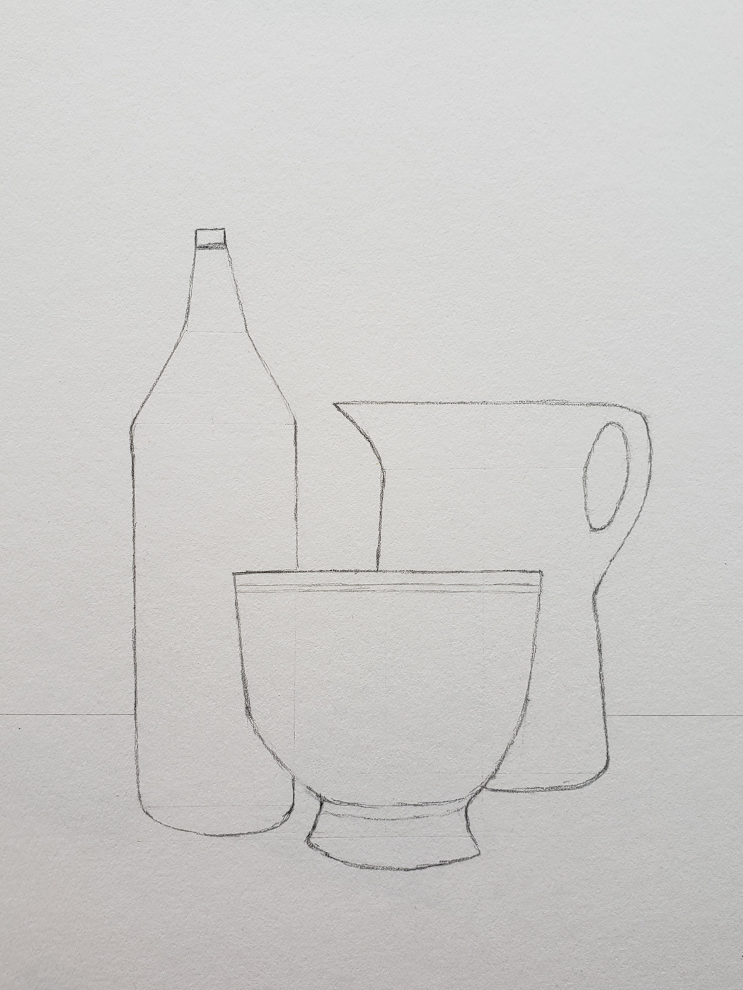 Bottle, Cup, and Vase