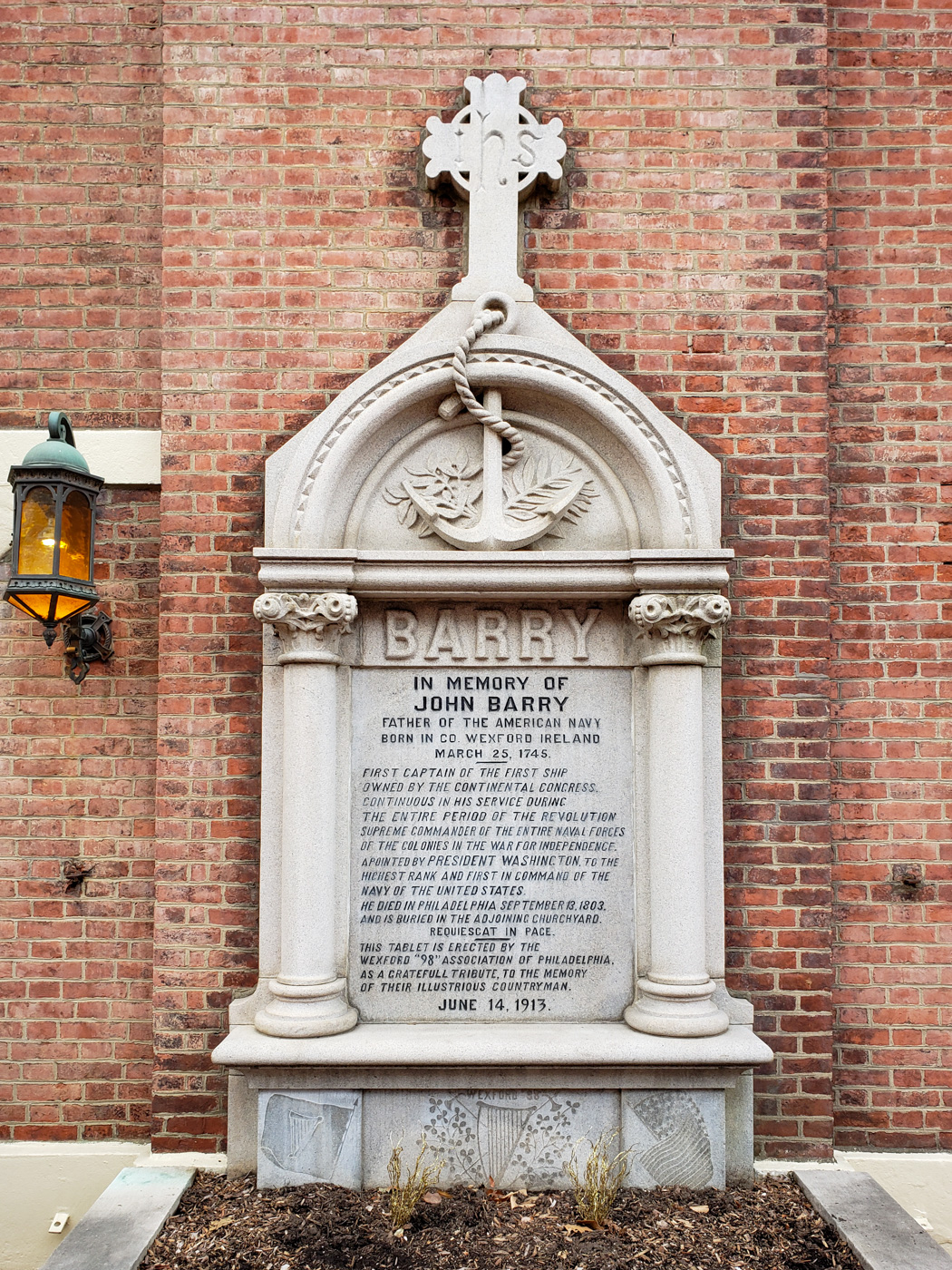 John Barry Memorial at Saint Mary's Church
