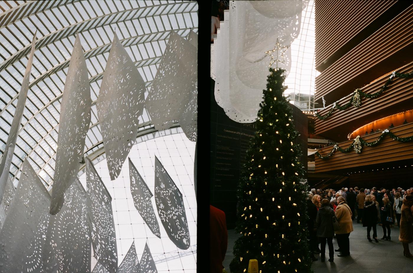 Kimmel Center at Christmas